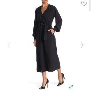 Lush Belt Waist Midi Dress